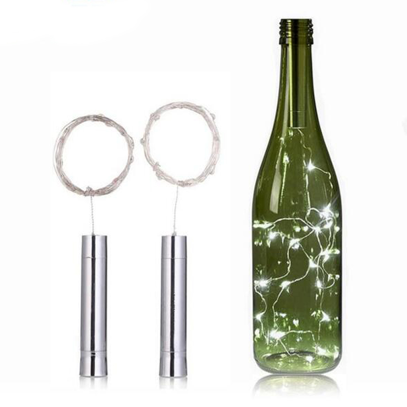 LumiParty AA Battery Power Bottle Lights 1.5M 15LEDs String Lights Fairy For Bistro Wine Bottle Bar Decoration Party Valentine