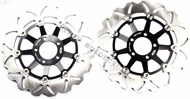 Бесплатная доставка мотоцикл тормозного диска ротора, пригодного для Kawasaki модель 400 1991-2002 модель 750 1988-1995 модель 750р 1989-1992 Стойка