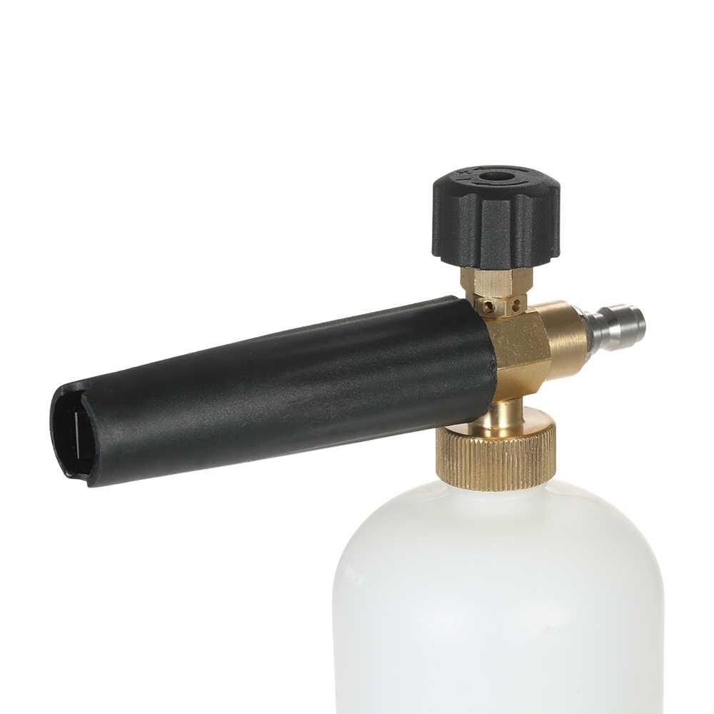 """Sneeuw Schuimlans Verstelbare Schuim Kanon 1 Liter Fles met 1/4 """"Quick Connector Generator voor Hogedrukreiniger Pistool Hogedruk"""