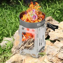 2019 NEW Portable Folding Camping Wood Stove Wood Burning Backpack Stove for Outdoor Survival Cooking Picnic Cooking Picnic BBQ все цены