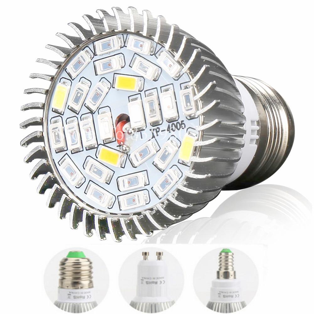 (10 بسته) E27 E14 GU10 28SMD LED Grow Light 28W AC85-265V چراغ بوته طیف کامل برای گیاهان