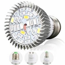 (10/Pack) E27 E14 GU10 28SMD LED Grow Light 28W AC85-265V Full Spectrum Indoor Plant Lamp For Plants Vegs Plant Light Wholesale