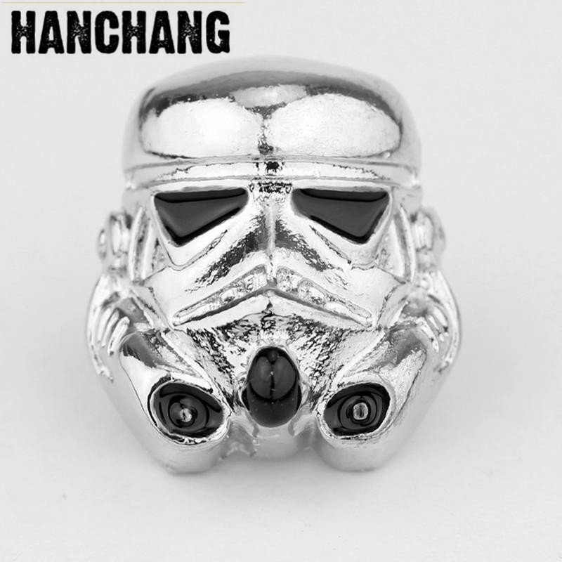 Star Wars 7 Power To Wake The Black Warrior Stormtrooper Brooch Men T-Shirt Brooches Broches Game Logo Brooch Helmet Button