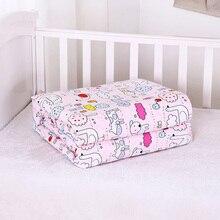 Одеяло детское из чистого хлопка 1,2x1,5 м с рисунком, пододеяльник для детей