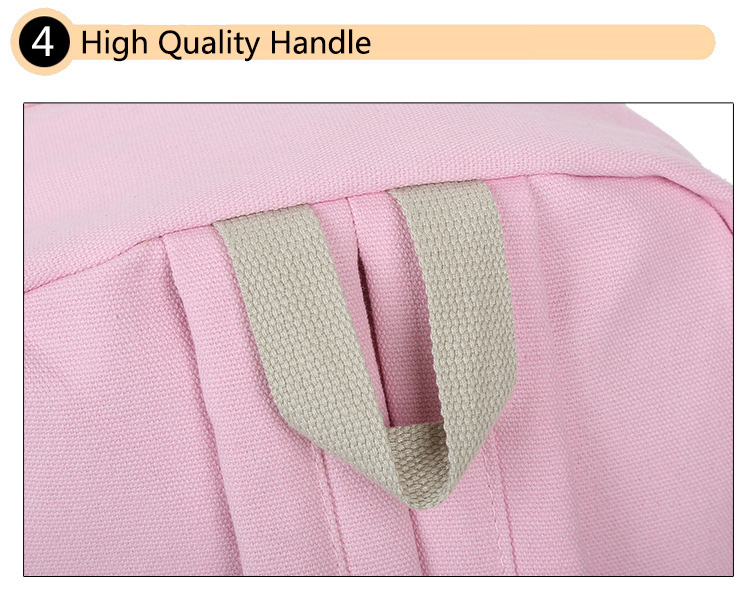 Cute Cat Print Backpack High Quality Handle