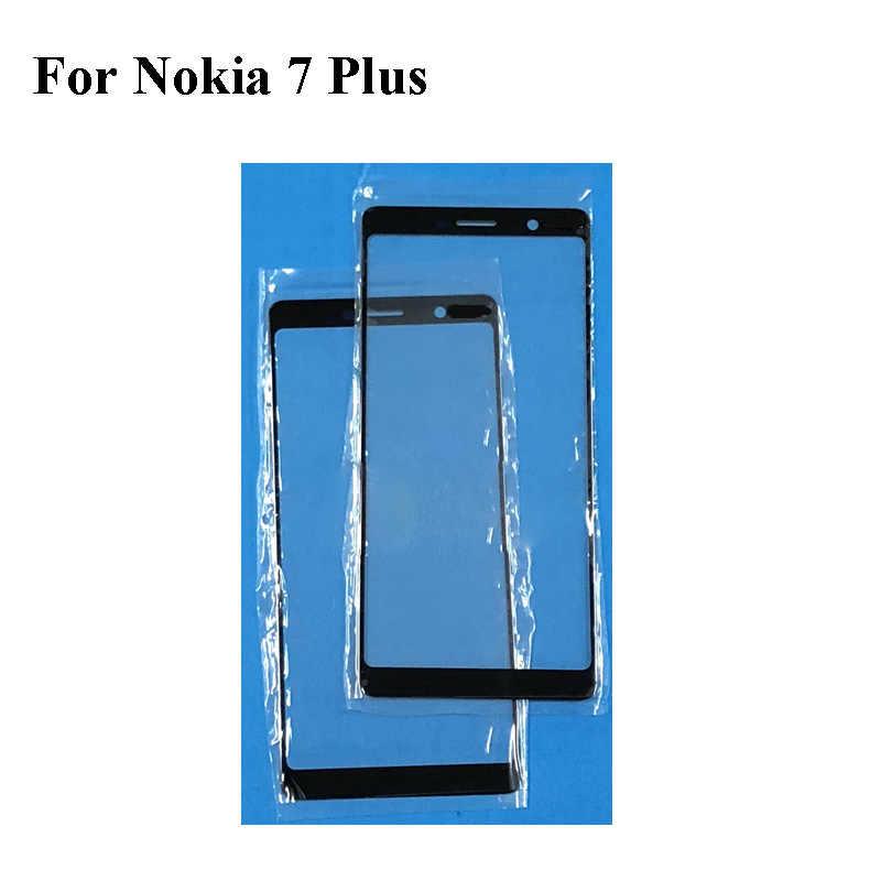لنوكيا 7 زائد 7 زائد الجبهة LCD زجاج عدسة لمس Nokia7 زائد اللمس شاشة خارجية الزجاج دون فليكس استبدال