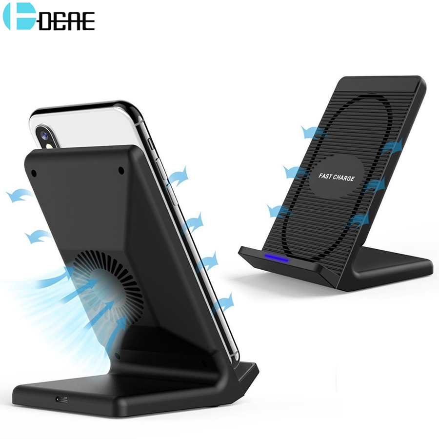 DCAE 10W Qi Wireless Charger For iPhone X 8 Plus Fast Wireless Charging Holder For Samsung Galaxy S9 S8 S7 Note 8 Xiaomi Mix 2s