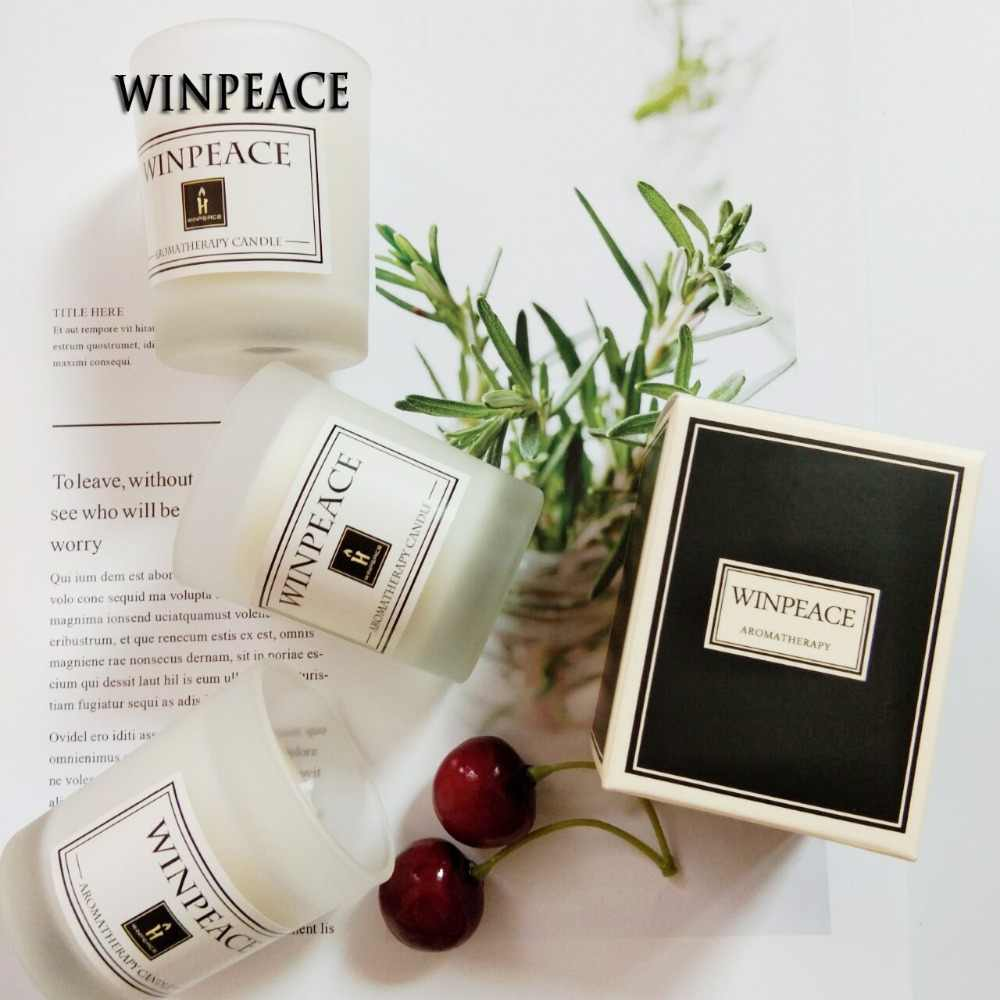 Aromeasy Smokeless scented candle glass soy wax pure natural banquet wedding exquisite candlestick restaurant home decoration