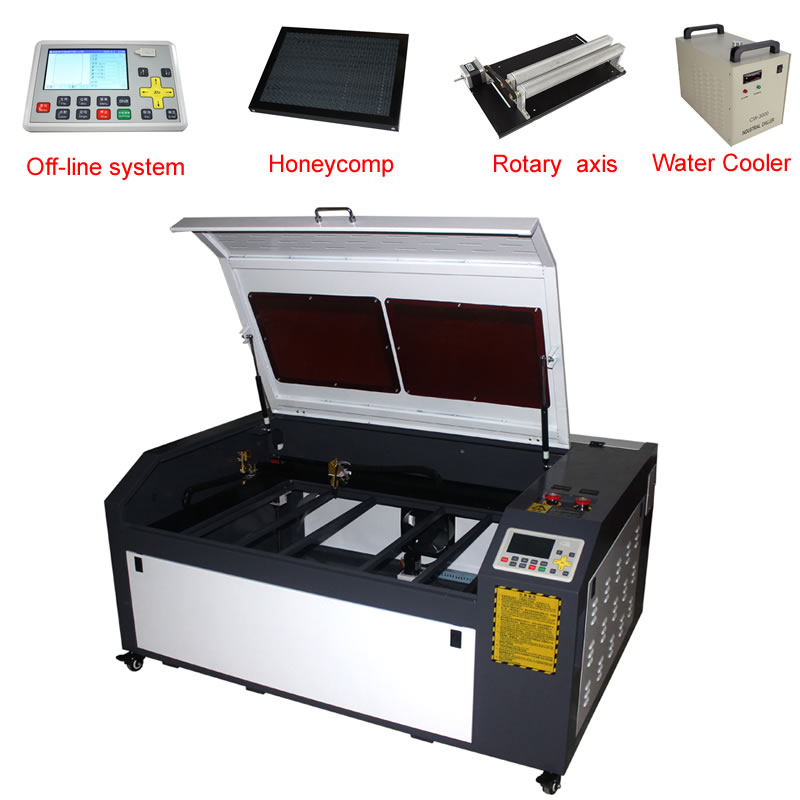 Two Color For Choose LY <font><b>100W</b></font> 1060 PRO CO2 USB <font><b>Laser</b></font> Cutting Machine <font><b>Laser</b></font> Engraver with offline system for metal wood and so on image