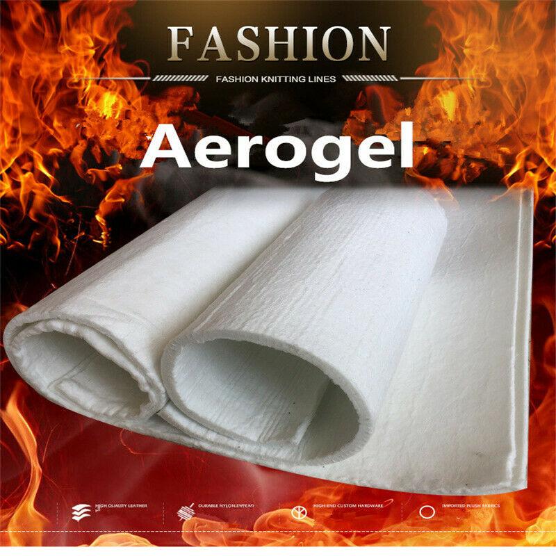 Super Light Silica Aerogel Insulation Hydrophobic Mat Lightest Solid 200x150x10mm/6mm/3mm High Temperature Resistance Insulation