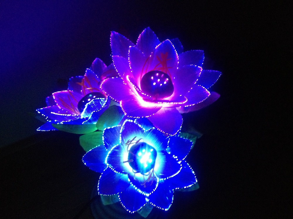 led flower lights lotus light buddha lamp fo lamp novelty artistic
