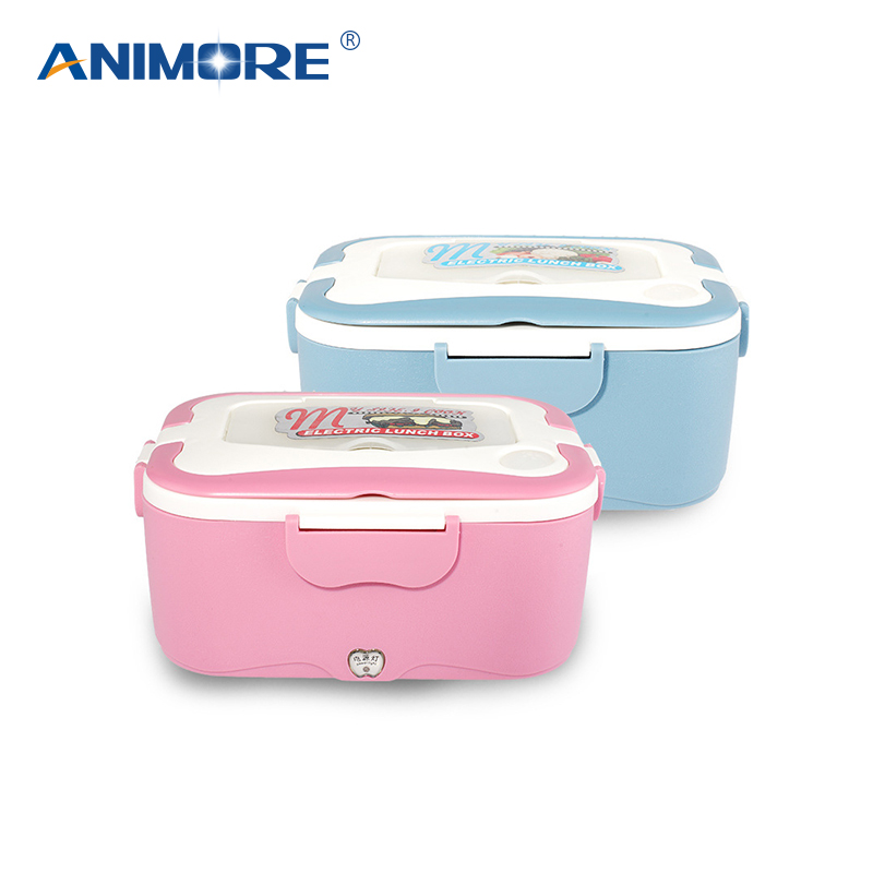 ANIMORE Food Lunch Box Electric Heater Stainless Steel Inner Pot 12V/24V/220V Food Warmer Portable Lunch Box Heater Food Box bear dfh s2516 electric box insulation heating lunch box cooking lunch boxes hot meal ceramic gall stainless steel