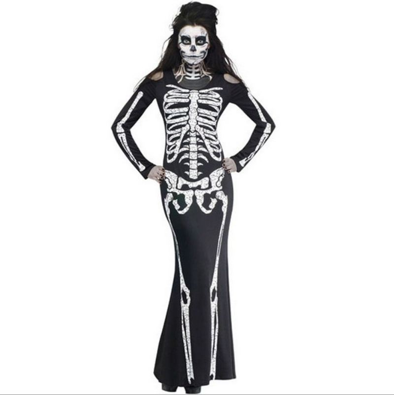 Adult Carnival Halloween Role Playing Costumes Scary Devil Witch Skull Skeleton Costume Women Nightclub Party Cosplay Dress on Aliexpress.com | Alibaba ...  sc 1 st  AliExpress.com & Adult Carnival Halloween Role Playing Costumes Scary Devil Witch ...