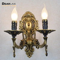 Luxurious Crystal Wall Lamp Classic Brass Color Wall Sconces Lights Wall Bracket Lighting Fixture for Living Room Foyer Corridor