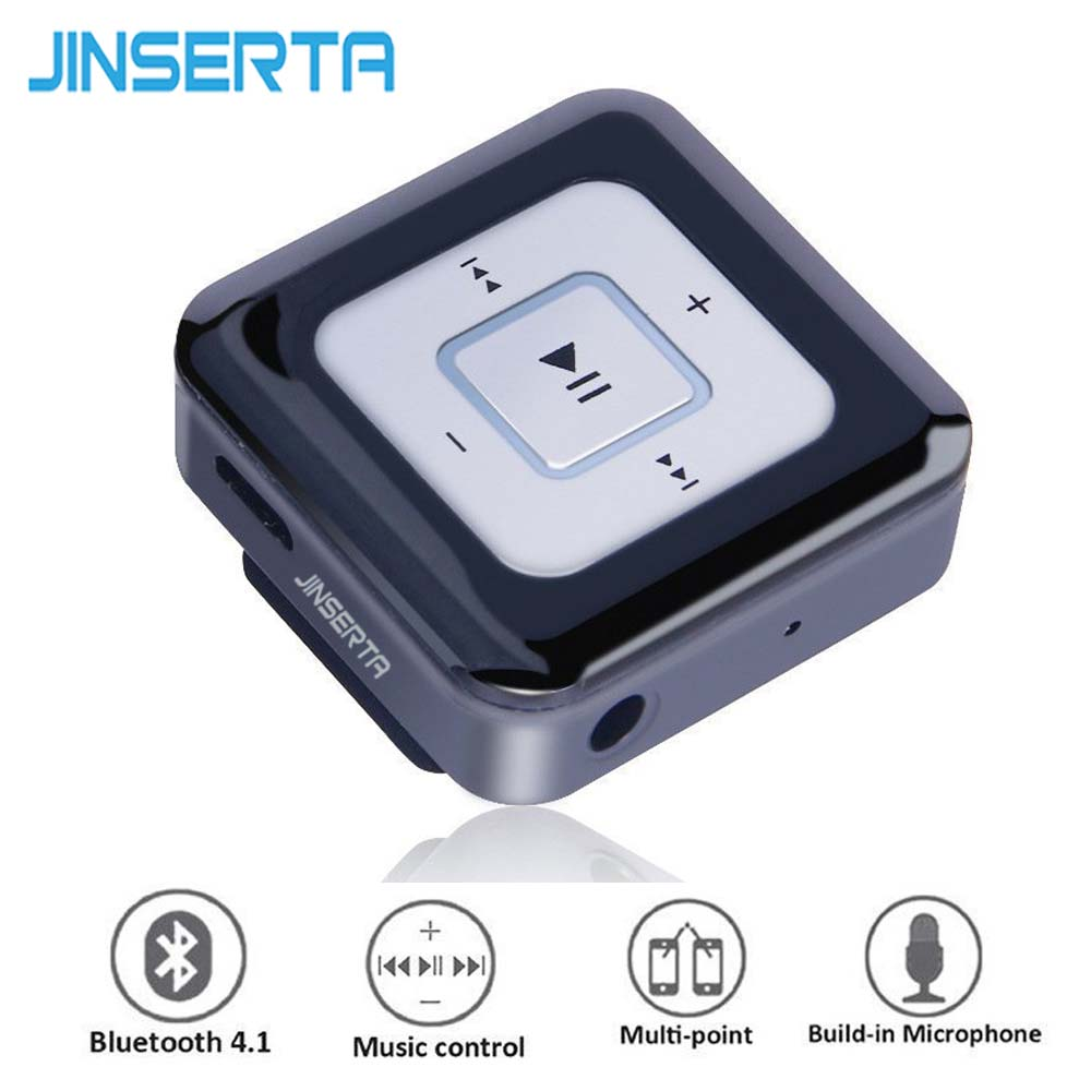 JINSERTA Music Lavalier Mini Clip Bluetooth Wireless Earphone Clamp Collar with Microphone For iPhone Samsung  wholesale 5 pics beige mini lavalier condenser microphone conference microfone for shure wireless transmitter xlr mini mikrofon