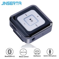 JINSERTA Music Lavalier Mini Clip Bluetooth Headset Wireless Headphone Earphone Clamp Collar With Microphone For IPhone