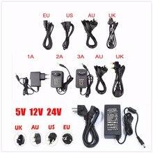 ЕС/США AC 85-245 В к DC 5 В/12V24V/1A 2A 3A 5A 6A 8A 10A адаптер питания драйвер переключатель для 3528 530 5050 полосы светодиодный