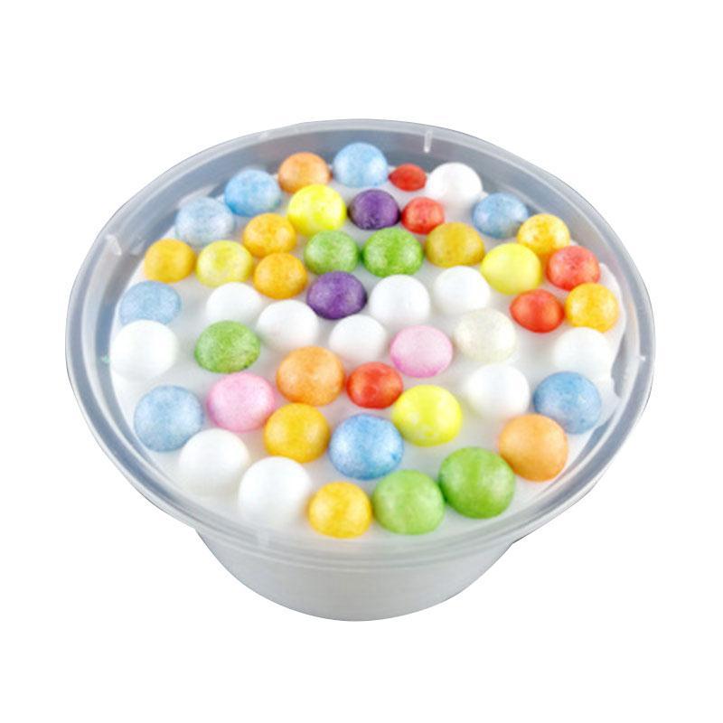 Coloré Enfants Anti-Stress Jouets Moelleux CLAIR PAILLETTES Floam Perles Slime Relax