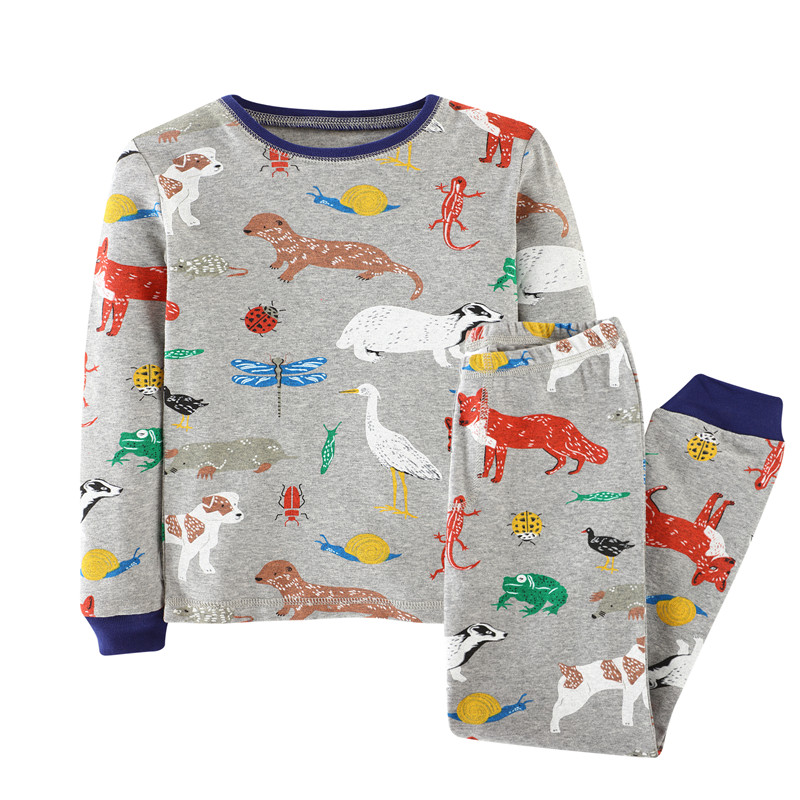 Children Clothing Sets 2pcs kids clothes Cute animals printed Cartoon european style Spring Autumn boys girls Suit Clothing Sets