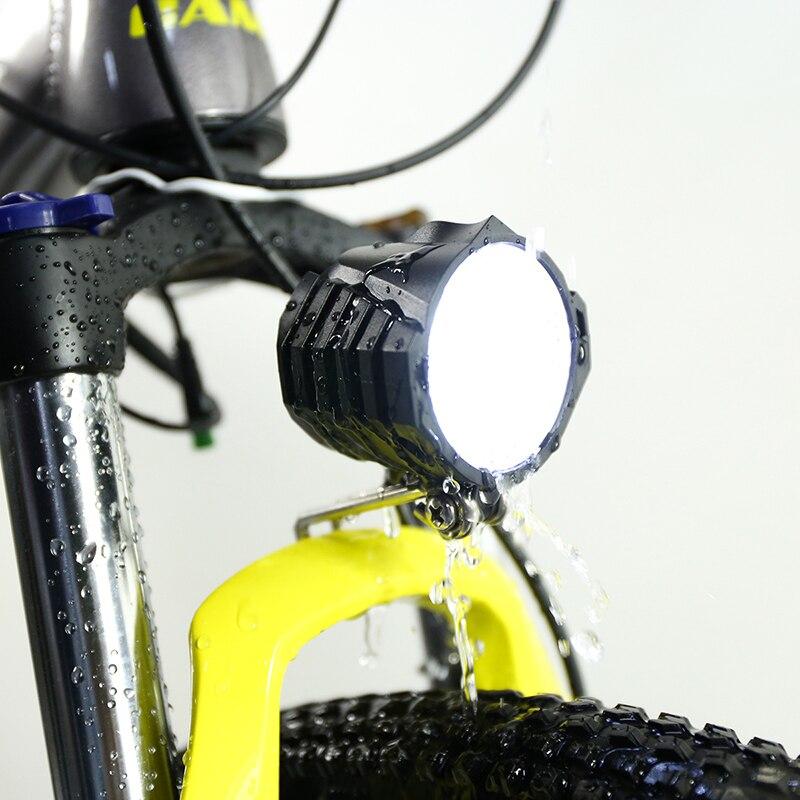 E-Bike Mountain Bicycle 36V//48V Headlight Front Light Spotlight With Horn/&Switch