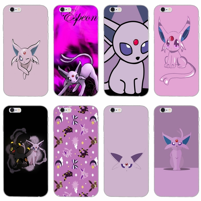online store 61402 a01fd US $1.99 |cute cartoon anime pokemon espeon slim silicone Soft phone case  For iPhone X 8 8plus 7 7plus 6 6s plus 5 5s 5c SE 4 4s-in Fitted Cases from  ...