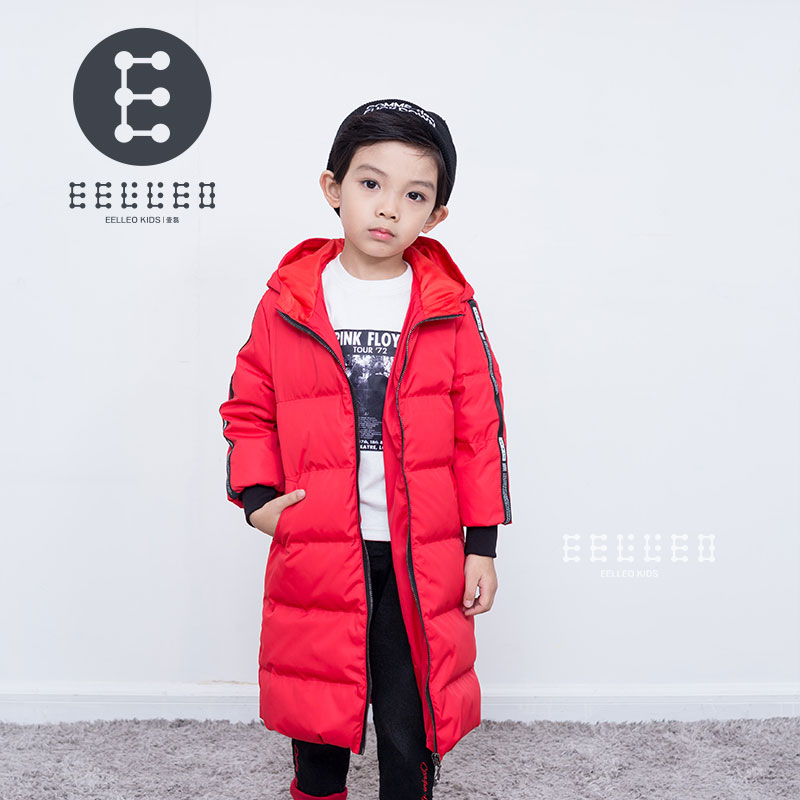 Winter Boys Duck Down Jacket Thicken Children Jackets Boy Long Thicken Overcoat Outerwear Red Hooded Parkas boys down jacket boy winter coats jackets boy 100% white duck down jacket russia winter boys down jacket 30