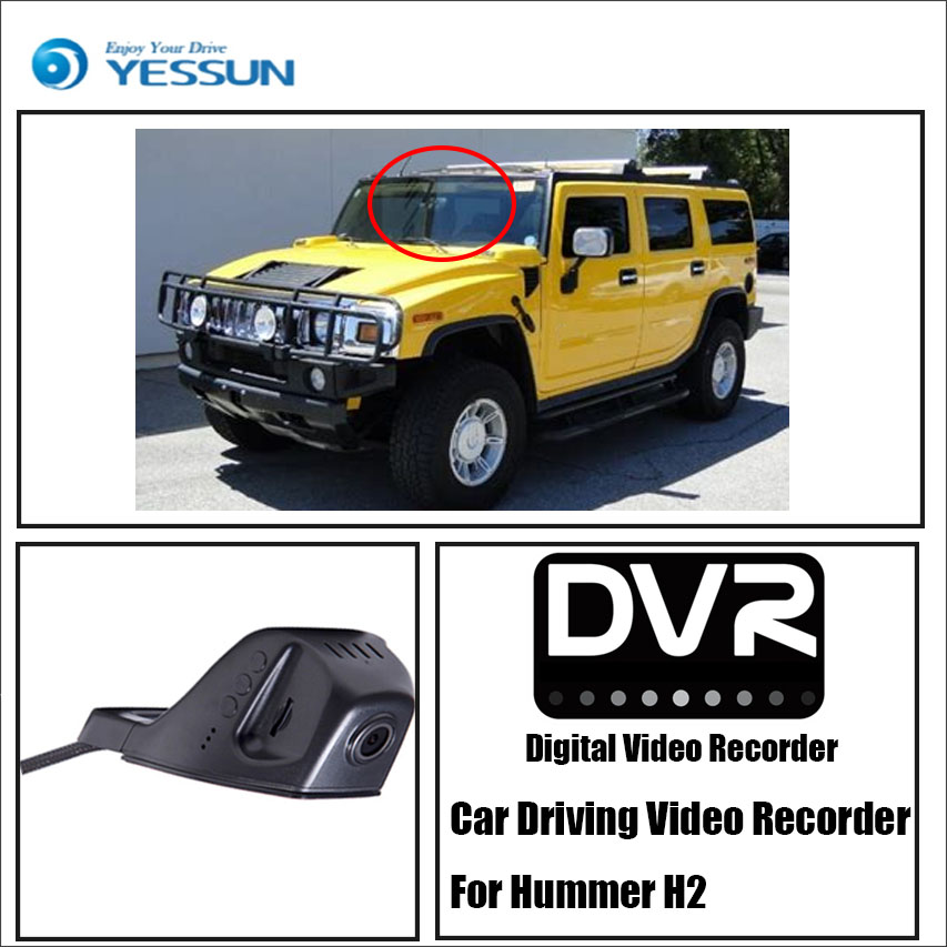 YESSUN For Hummer H2 Car Driving Video Recorder Wifi DVR Mini Camera Black Box / Novatek 96658 FHD 1080P Dash Cam Night Vision потолочный светодиодный светильник с пультом sonex 2012 el