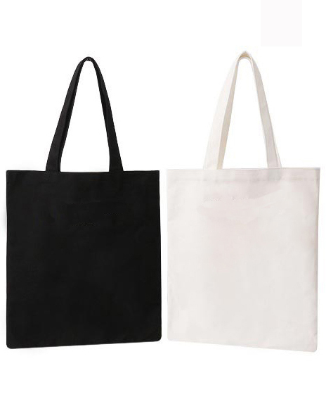 c60125c988 10 pieces lot Wholesale Promotional Gifts Customized Logo Totes Bag White  Eco Bags Solid Color