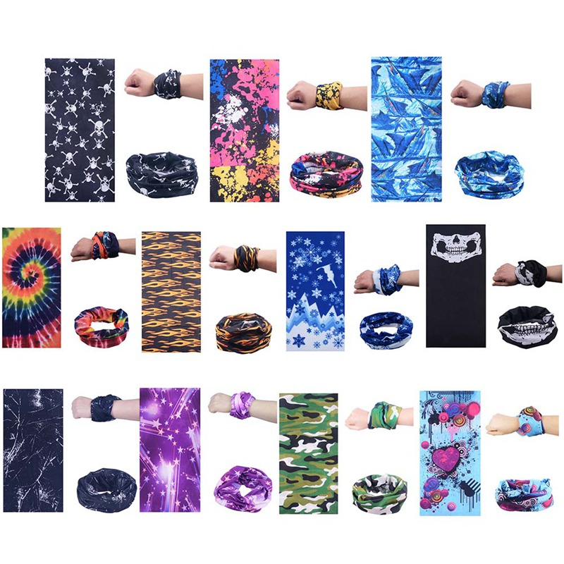 Magic Headband Outdoor Sports Neck Warmer Cycling Bike Bicycle Riding Face Mask Head Scarf Scarves Bandana Turban Pirate Hat coolchange 20006 cycling thicken fleeces face mask hat scarf black