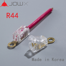 JOWX S44 10PCS 14-13AWG 2.5sqmm Non-stripping Cable Wiring Wire Connectors Quick Splice Crimp Spade U Shape Insulated Terminals