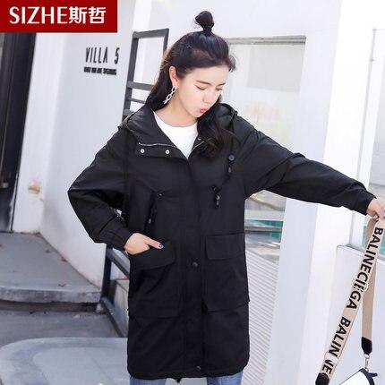 Kelly 2019 Capuche À Longue D'hiver Mince Sac Femme Section Nouvelle vent 1 3 Mode Outillage Veste Coupe 2 xRSgwq8n6