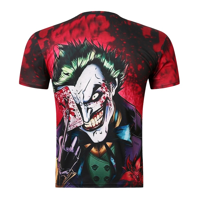 2016 new the Joker 3d t shirt funny comics character joker with poker 3d t-shirt summer style outfit tees top full printing