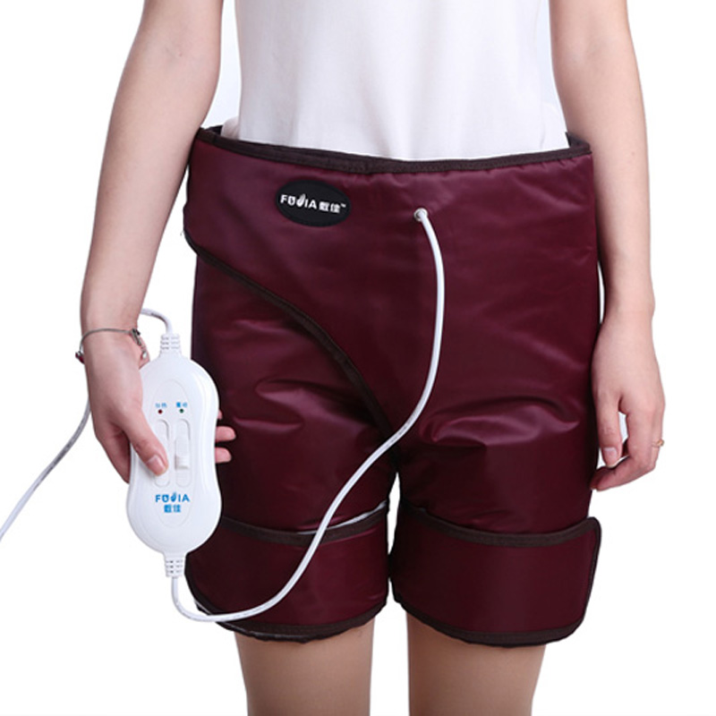 New Infrared heating shorts intensity adjustable vibration leg massager belt striped wide leg shorts