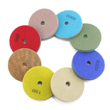 8 Piece 100mm 4inch wet sponge polishing pads grit  Processing Concrete Best Marble Concrete Grinding Process Polymer Abrasives