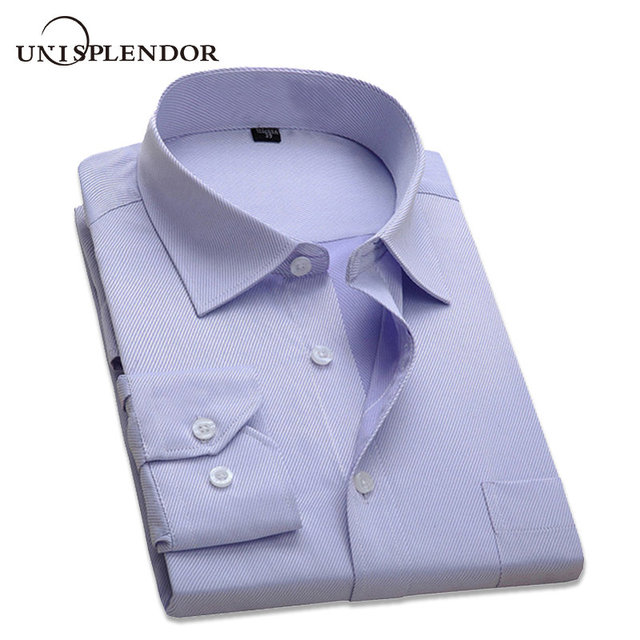 2019 New Arrival Classic Men's Business Shirts Long Sleeve Formal Cotton Shirt Men Slim Fit Dress Shirts Work Wear S-4XL YN1008