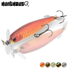 2018 newer lure prop pencil bait chrome steel prop bass lure fishing wobblers artificiali pesca mare 90mm 14.5g floating