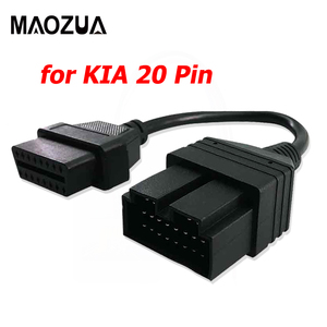 New OBD 2 Cable for KIA 20 Pin To 16 Pin OBD2 OBD Diagnostic Tool Scanner Code Reader Adapter Car Connector Cable for KIA 20Pin