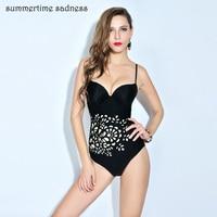 High Quality Bikinis Push Up Swimwear Women Solid Color Bottom Sexy Print Beach Swimsuit Vintage Retro