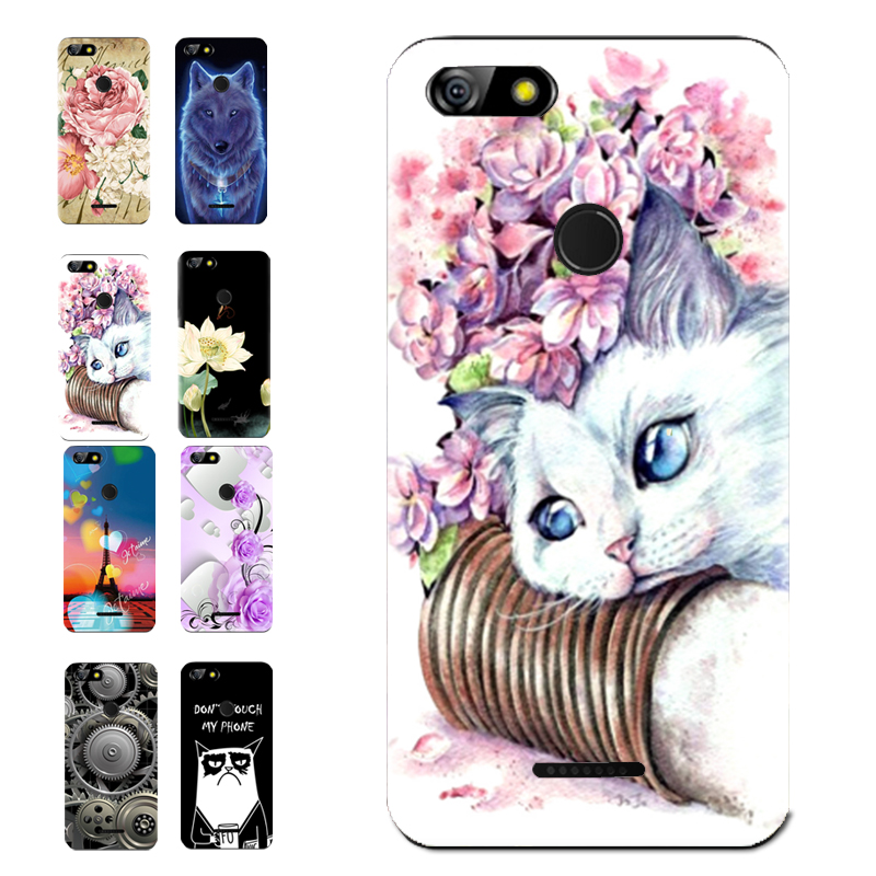 For BQ 5500L ADVANCE Floral Sleepy Darling Baby Cat Animal Case For BQ BQ-5500L ADVANCE SPARTAK EDITION Back Cover Bag TPU Cases