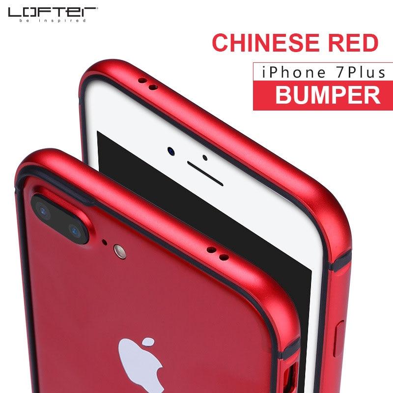 Vermelho chinês ultra fino alumínio pára-choques para iphone 7 8 7 mais fino metal quadro caso do telefone capa de silicone coque capinha funda