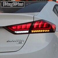 Car Styling for Hyundai ELANTRA 2017 TAIL Lights LED Tail Light LED Rear Lamp DRL+Brake+Reversing dynamic turn signal