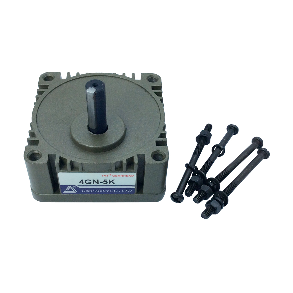 Gear Head 4GN with 10mm Out Shaft DC/AC Motor Ratio 1:180/150/120/100/90/75/60/50/40/36/30/25/20/18/15/12.5/10/7.5/6/5/3.6/3 60w ac reversible motor 5rk60gu cf with gear ratio 90 1 output speed is 15 r m gear head 5rgu 90k