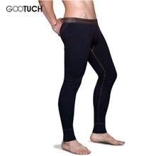 Men's Long Johns Trousers Mens Cotton Sleep Bottoms Thin Elastic Waistband Pijamas Pants Tight Long Johns Plus Size 5XL 6XL 2498