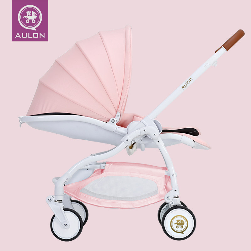 Aulon Baby Stroller Umbrella Vehicle Four Wheel Shock Resistant Folding Can Sit and Lie Baby Carriage babythrone baby stroller portable folding stroller can sit and lie down widen and widen the four wheel shock absorbers