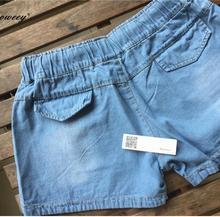 denim blue Jeans plus size short Pants SF