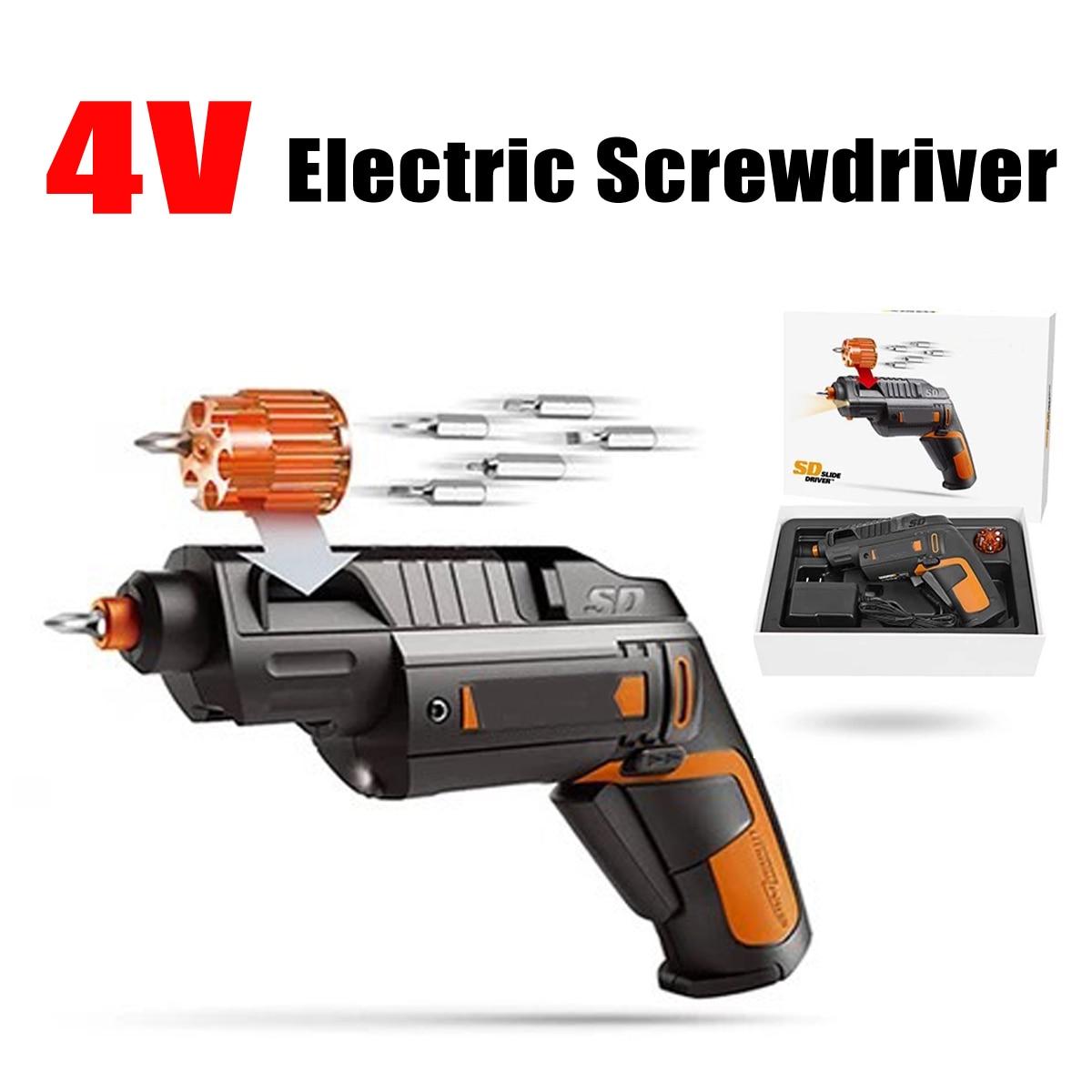4 В в электрическая отвертка с литий-ионной батареей перезаряжаемая Беспроводная Бытовая универсальная для WORX электрическая дрель ручной и...