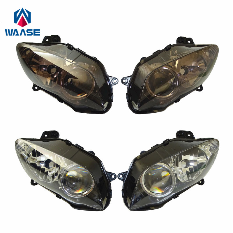 Waase Motorcycle Front Headlight Headlamp Head Light Lamp Assembly For Yamaha YZF R1 2004 2005 2006