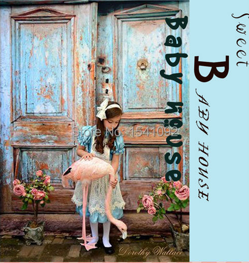 Prix pour 5X7FT Personnaliser Mince vinyle photographie décors Numérique Impression fond vieille porte pour photo studio bg-369