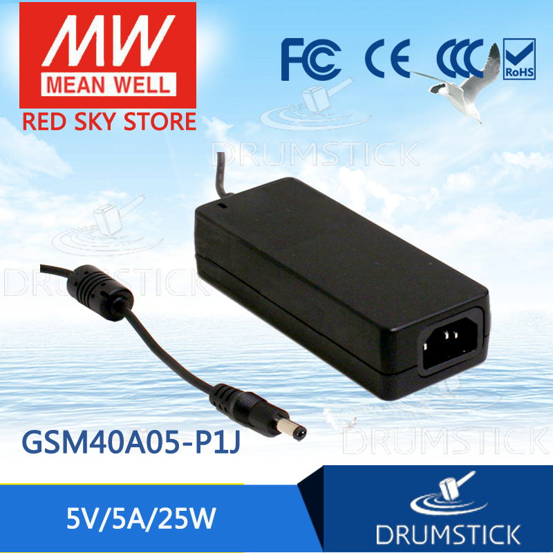Selling Hot MEAN WELL GSM40A05-P1J 5V 5A meanwell GSM40A 5V 25W AC-DC High Reliability Medical Adaptor advantages mean well gsm18b12 p1j 12v 1 5a meanwell gsm18b 12v 18w ac dc high reliability medical adaptor
