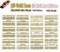 Clavo 3D (Pieza HBJY007-024 12 DISEÑOS EN 1) de Oro de Encaje de Flores 3d Nail Art Sticker Decal para Decoración de uñas